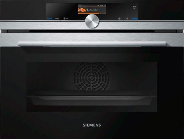 Siemens CS636GBS2 A+ Touchdisplay Kompaktbackofen mit Dampfgarfunktion Edelstahl