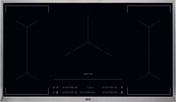 AEG IKE 95454 XB Induktion Autark 90 cm BridgeFunktion Edelstahlrahmen