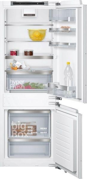 Siemens KI77SADD0, iQ500, Einbau-Kühl-Gefrier-Kombination mit Gefrierbereich unten, 157.8 x 55.8 cm