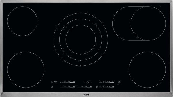 AEG HK 955070 XB / Glaskeramik Elektro / Edelstahlrahmen / 90 cm / 5 Zonen