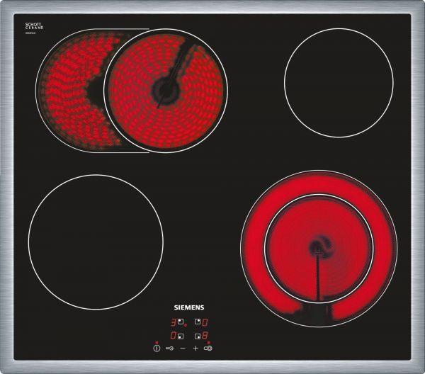 Siemens ET645HN17E Elektro-Kochstelle mit Edelstahlrahmen